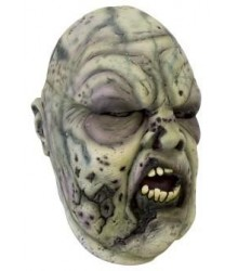 Zombie Mask Grey/Green with Hair, LARP Accessoires