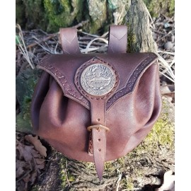 CERNUNNOS, Leather Bag brown, bronze