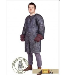 Chain mail with long sleeves (round rivets)